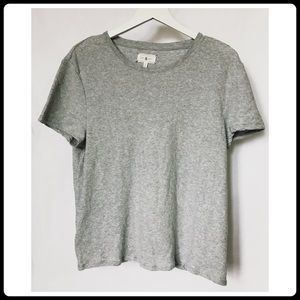 Lou & Grey marled light gray cotton tee